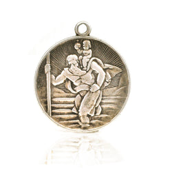 Deco St. Christopher Pendant