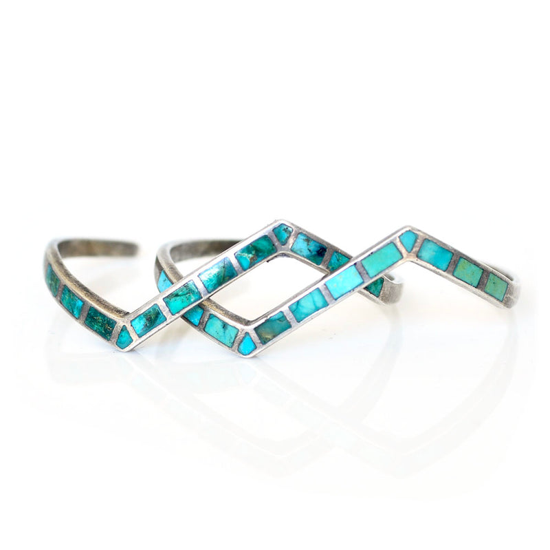 Turquoise Lightning Cuffs