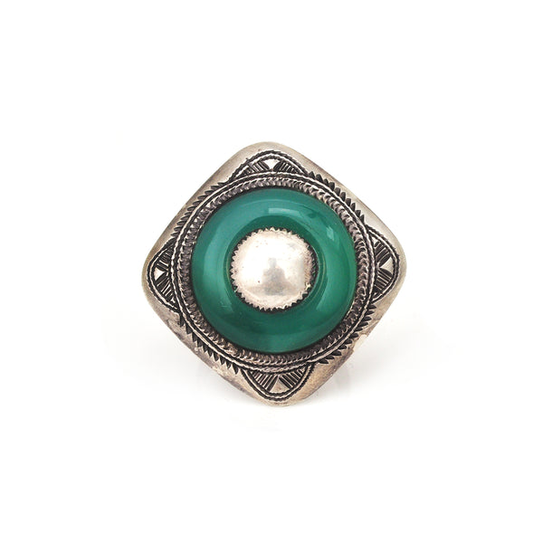Chalcedony Shield Ring