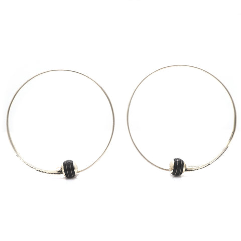 Sterling Tuareg Hoop Earrings