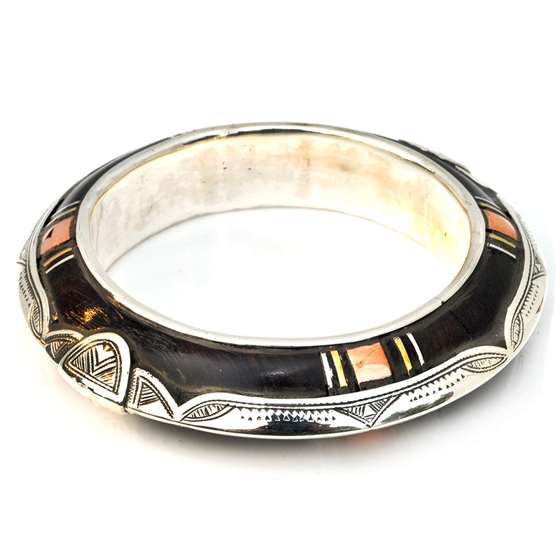 Knife Edge Ebony Bangle