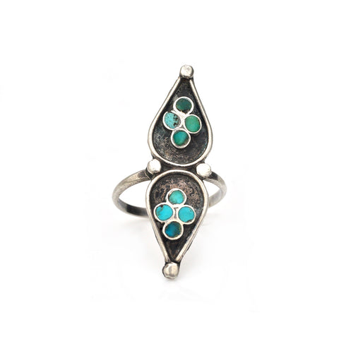 Turquoise Tears Ring