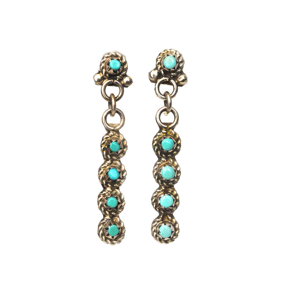 Tiny Turquoise Totem Earrings