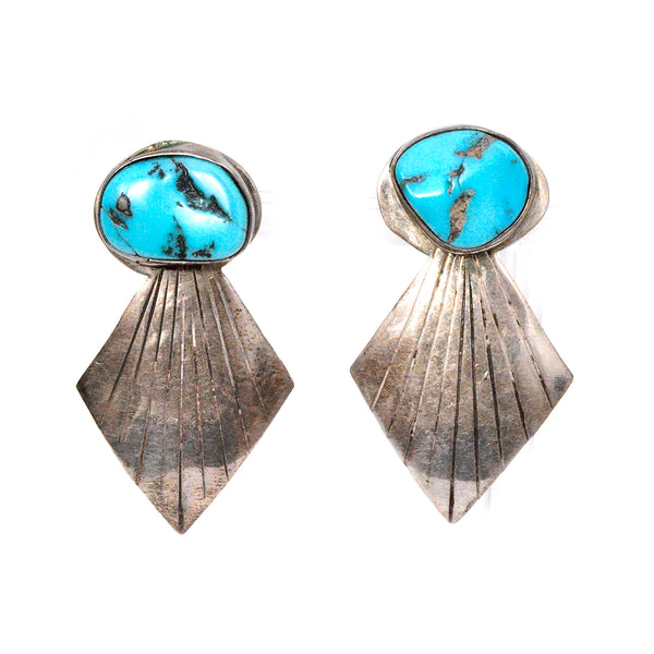 Turquoise Ray Earrings