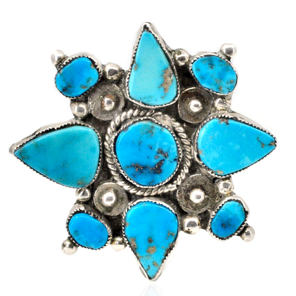 Turquoise Star Brooch