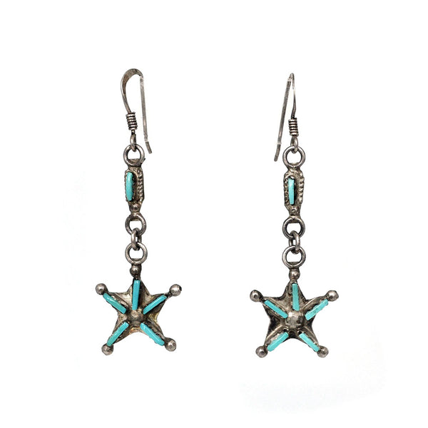 Zuni Star Earrings