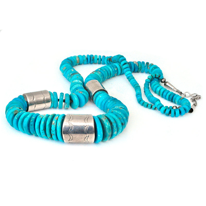 Turquoise Skipping Stone Necklace