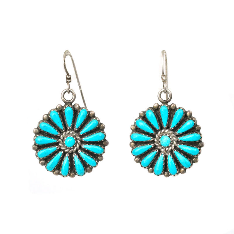 FM Begay Turquoise Earrings