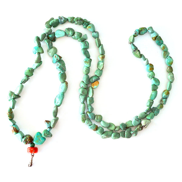 Chinese Turquoise & Coral Necklace