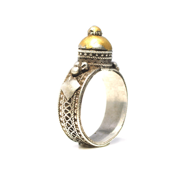 Yemeni 24k Gold Dome Ring