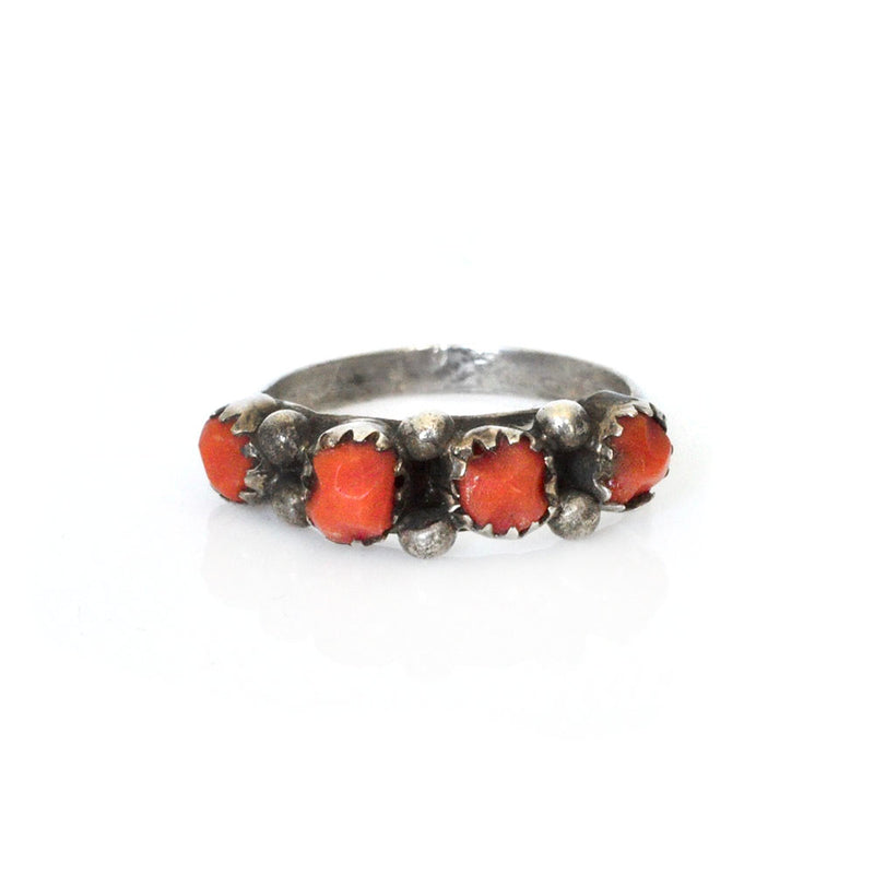 Coral Row Ring