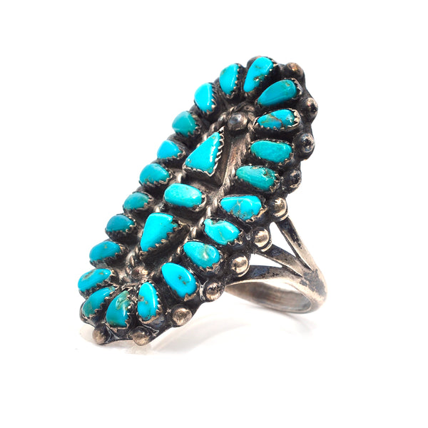 Shield Turquoise Ring