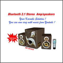 2.1 Bluetooth Stereo Amp/Speakers (AS-2015/6)