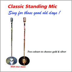 Classic Standing Microphone With Iron Bass