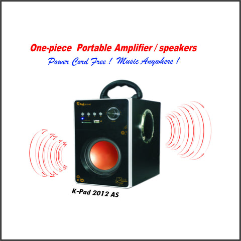 One-Piece Portable Amplifier/Speaker (K-PAD 2012AS)