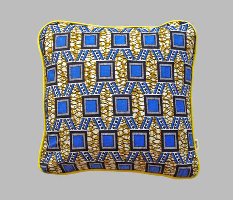 Coussin Blue Square