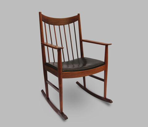 Rocking Chair Arne Vodder en palissandre