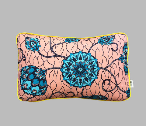 Coussin rectangulaire Turquoise Flower