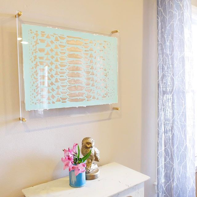 Acrylic Floating Frame with Silver Hardware