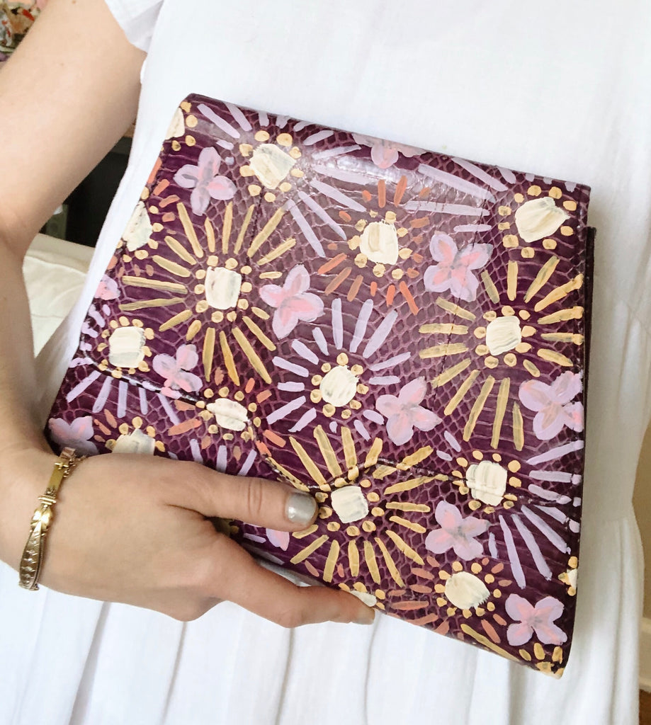 Hand-painted Snake Clutch