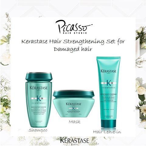 Kerastase 3 pc Resistance Bundle Set for Damaged Hair