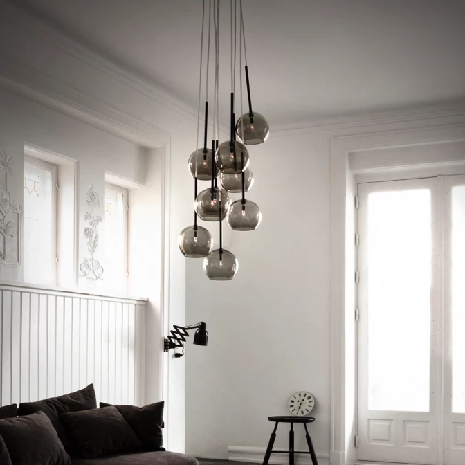 &tradition - Ice Chandelier SR6 black lustre