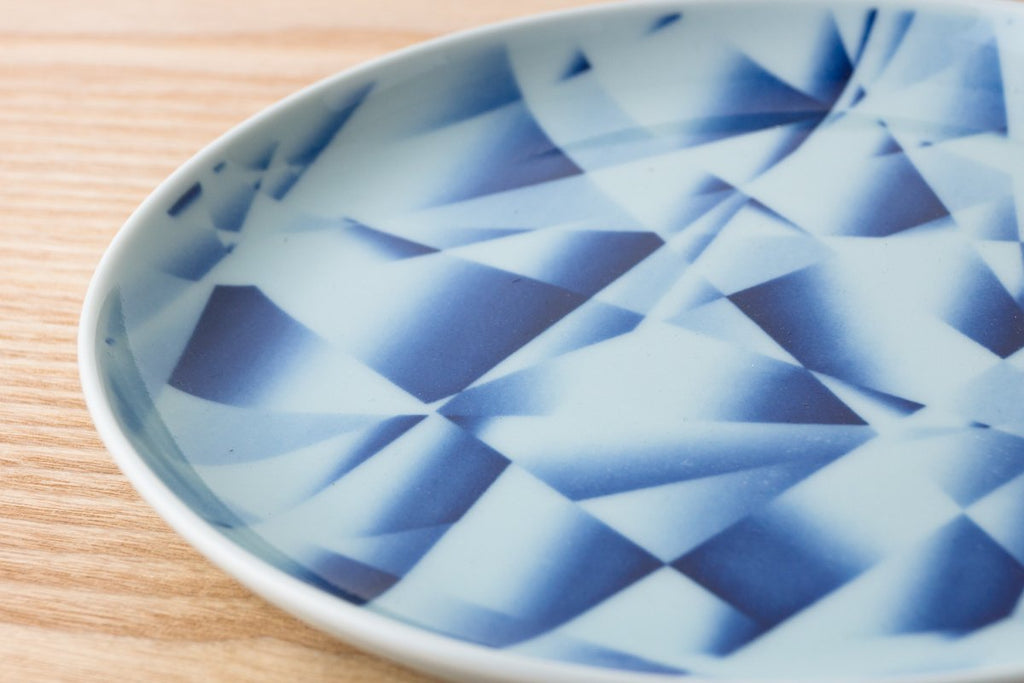 Kihara - Gradation Plate - Blue Diamonds