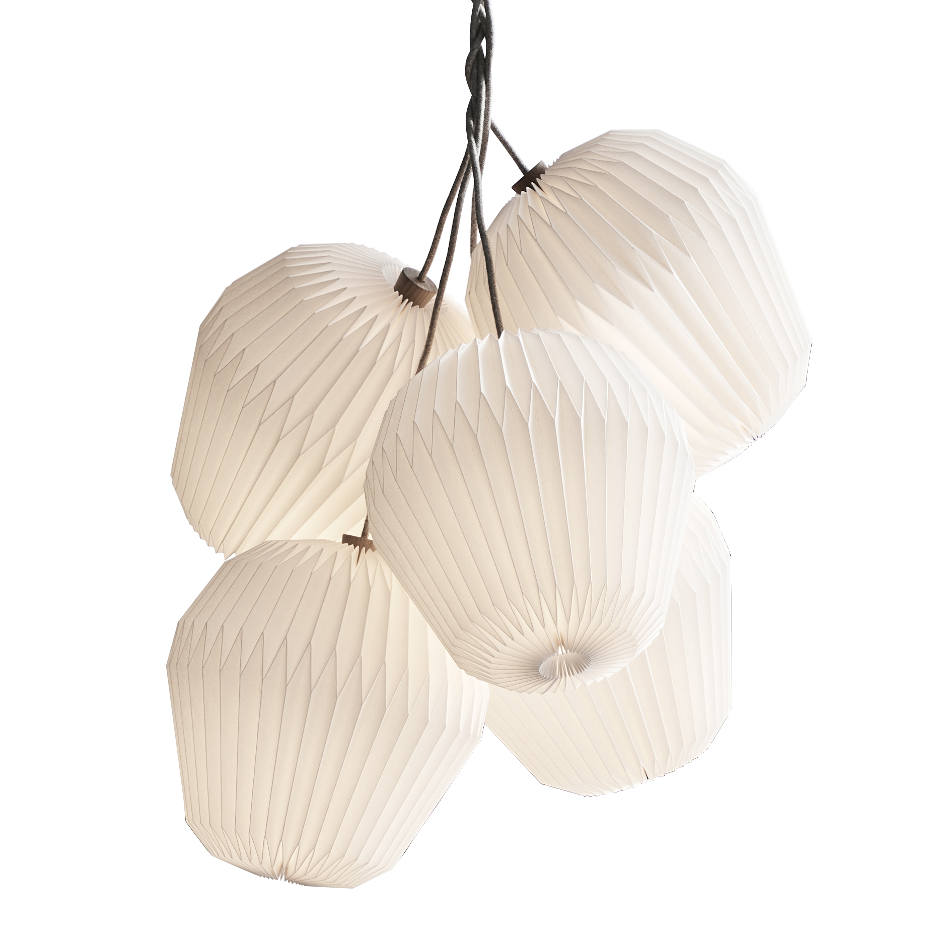 The Bouquet Chandelier, large, 5 shades