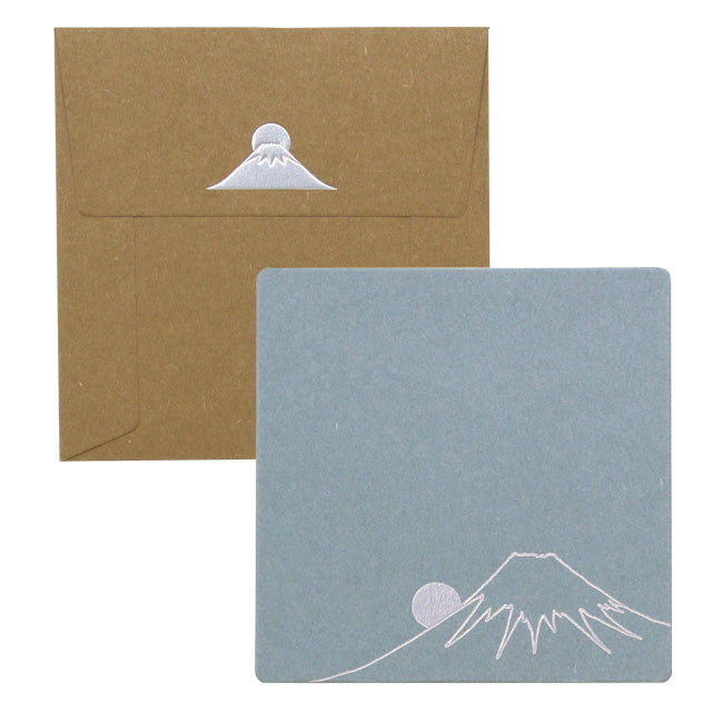 Cashico Embossed Square Card, Mt. Fuji
