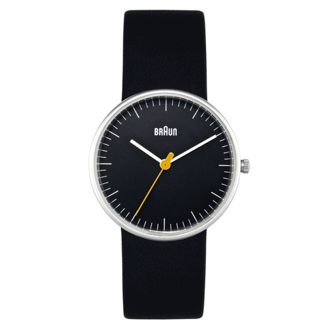 Braun - Ladies' BN-21BKL Black dial, Black leather band
