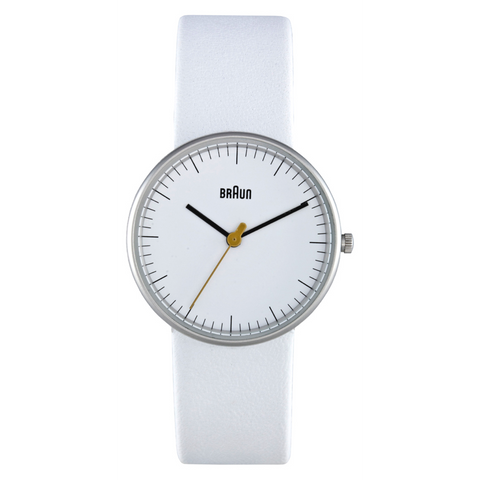 Braun - Ladies' BN-21WHL White dial, White leather band