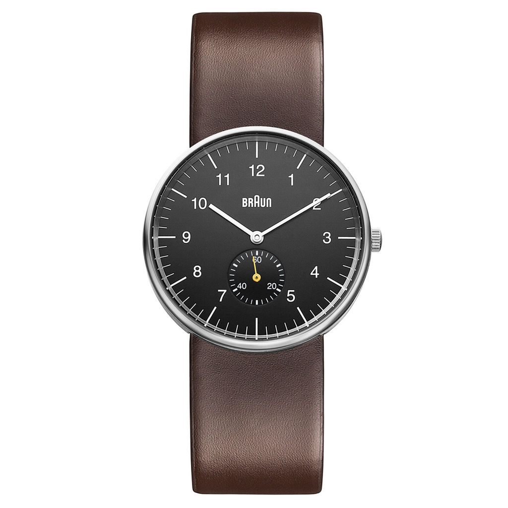 Braun - BN-24BKBRG Men's Black dial, Brown leather band