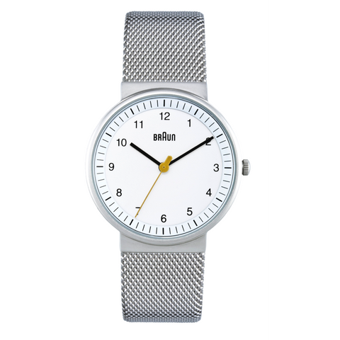 Braun - Ladies' BN-31WHSLMHL White dial, Steel mesh band