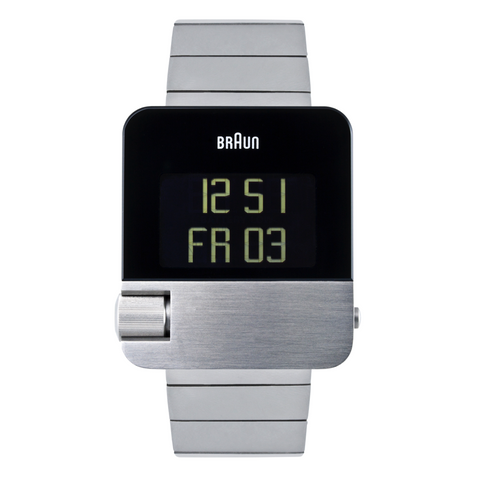 Braun - Men's BN-0106SLBTG Prestige Digital - Steel case, steel strap