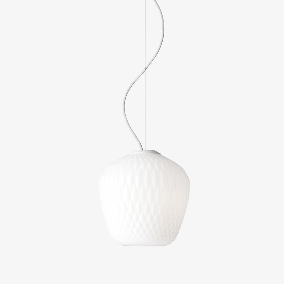 Blown Pendant Lamp SW3, opal white