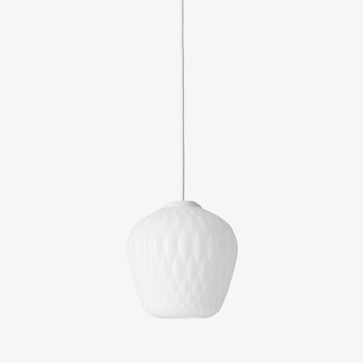 Blown Pendant Lamp SW4, opal white