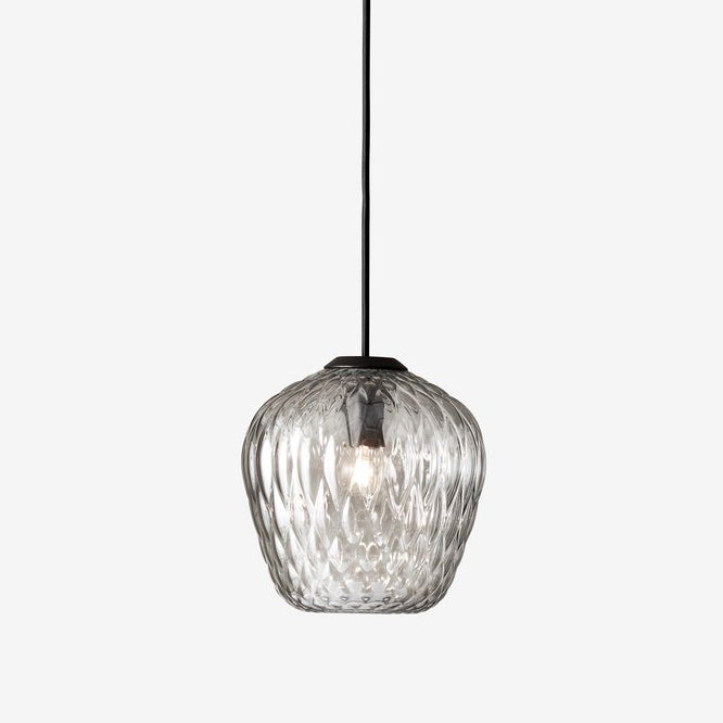 Blown Pendant Lamp SW4, silver lustre