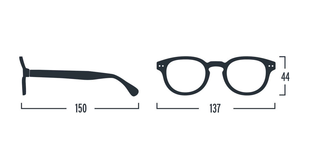 Reading Glasses - C - Grey