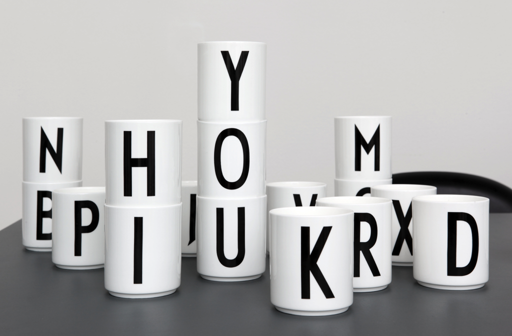 Design Letters - Bone China Cups