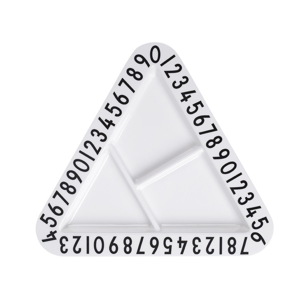Design Letters - Melamine Triangle Snack Plate