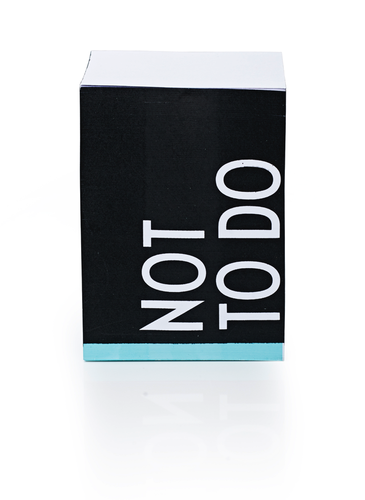 "Design Letters - ""Not To Do"" Sticky Notes"