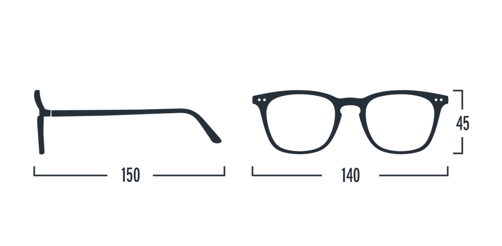 Reading Glasses - E - Grey