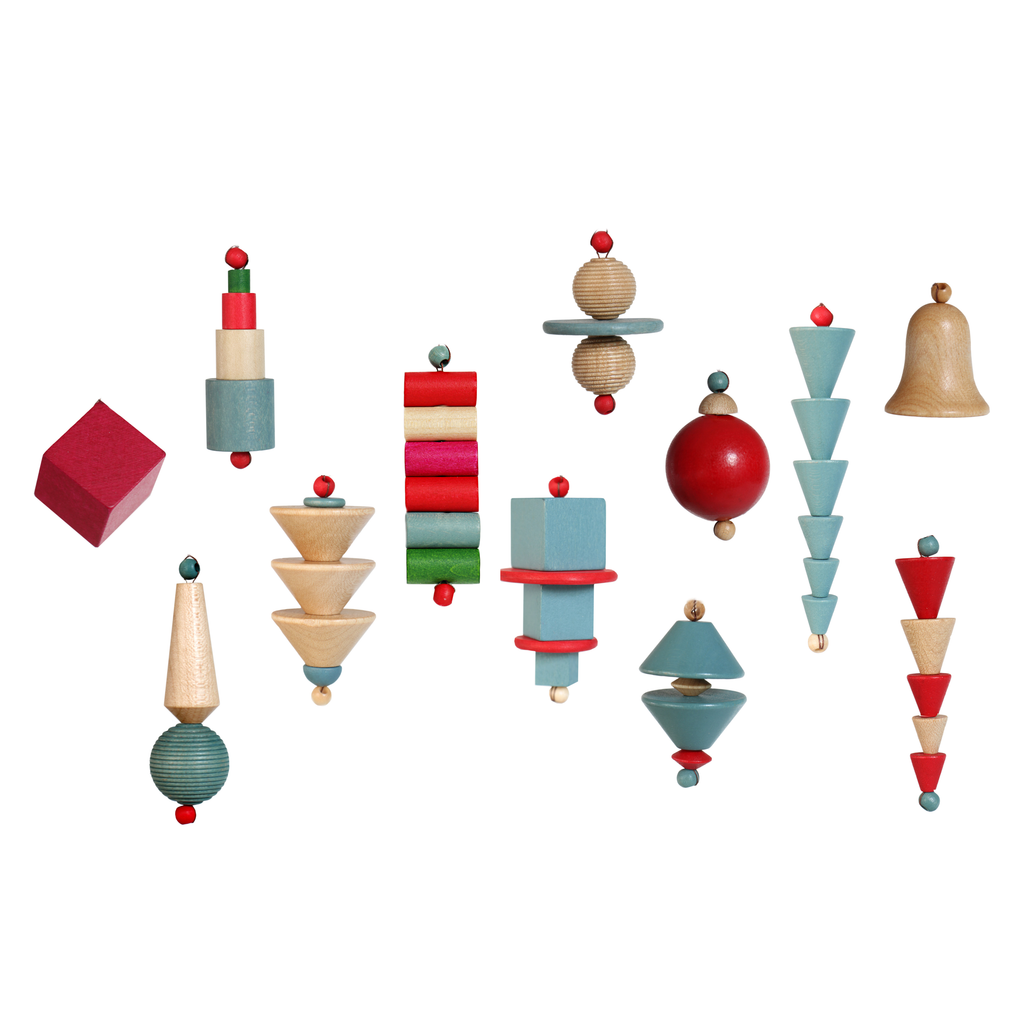 IC Design, 12 Bauhaus-era Christmas Ornaments