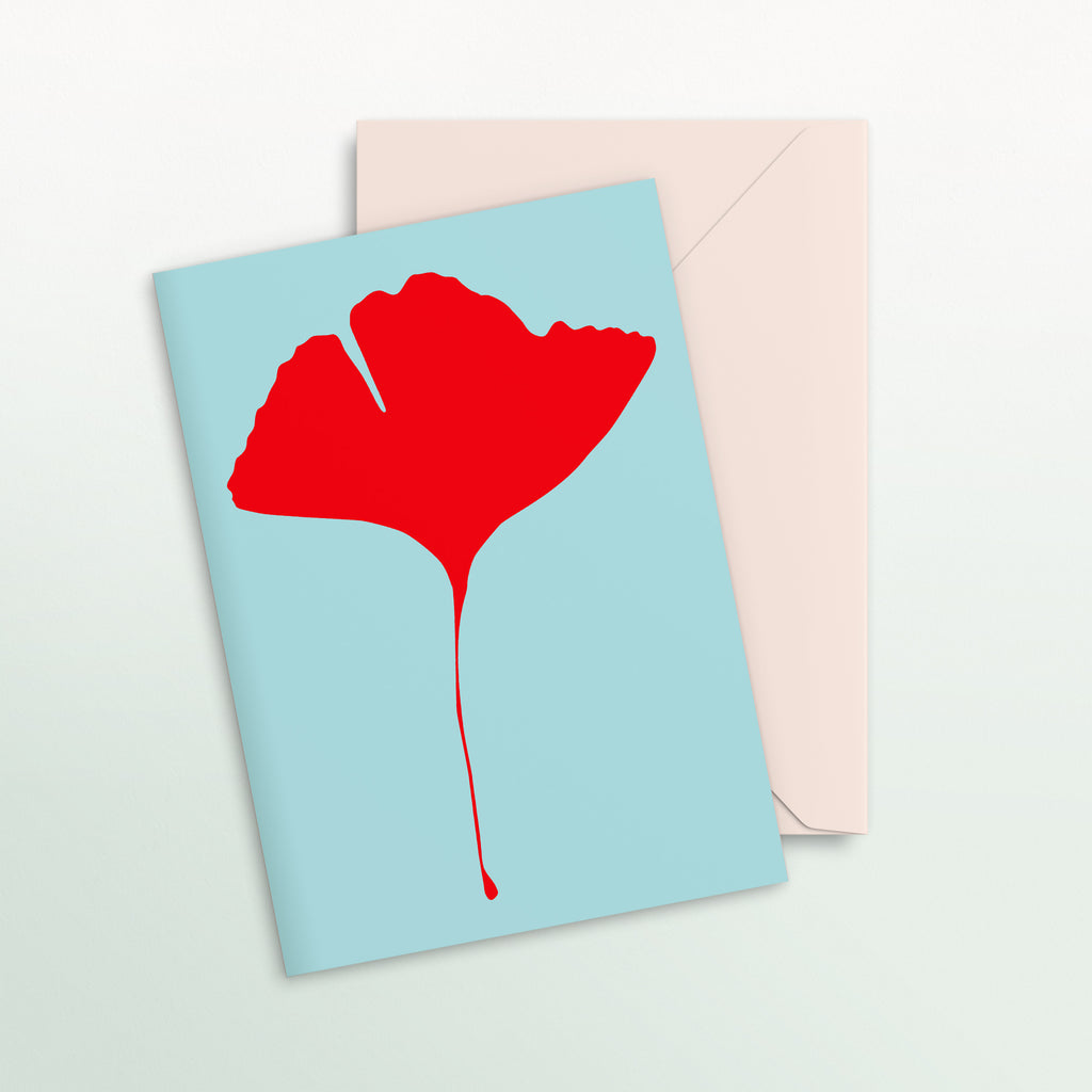 Ginkgo Pop Notecard