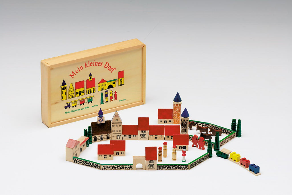 "Mein Kleines Dorf - ""My little village"" wooden toy set"