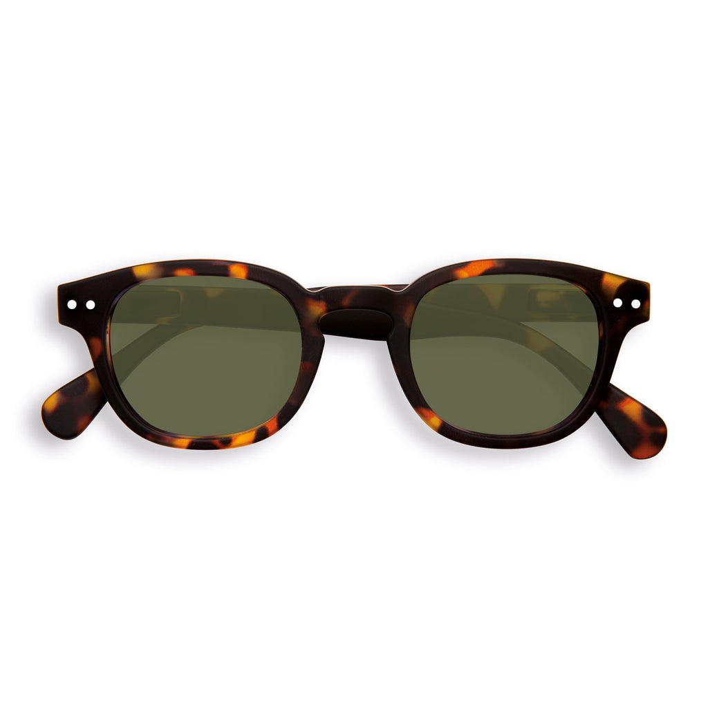 Sunglasses - C - Green Lenses - Tortoise