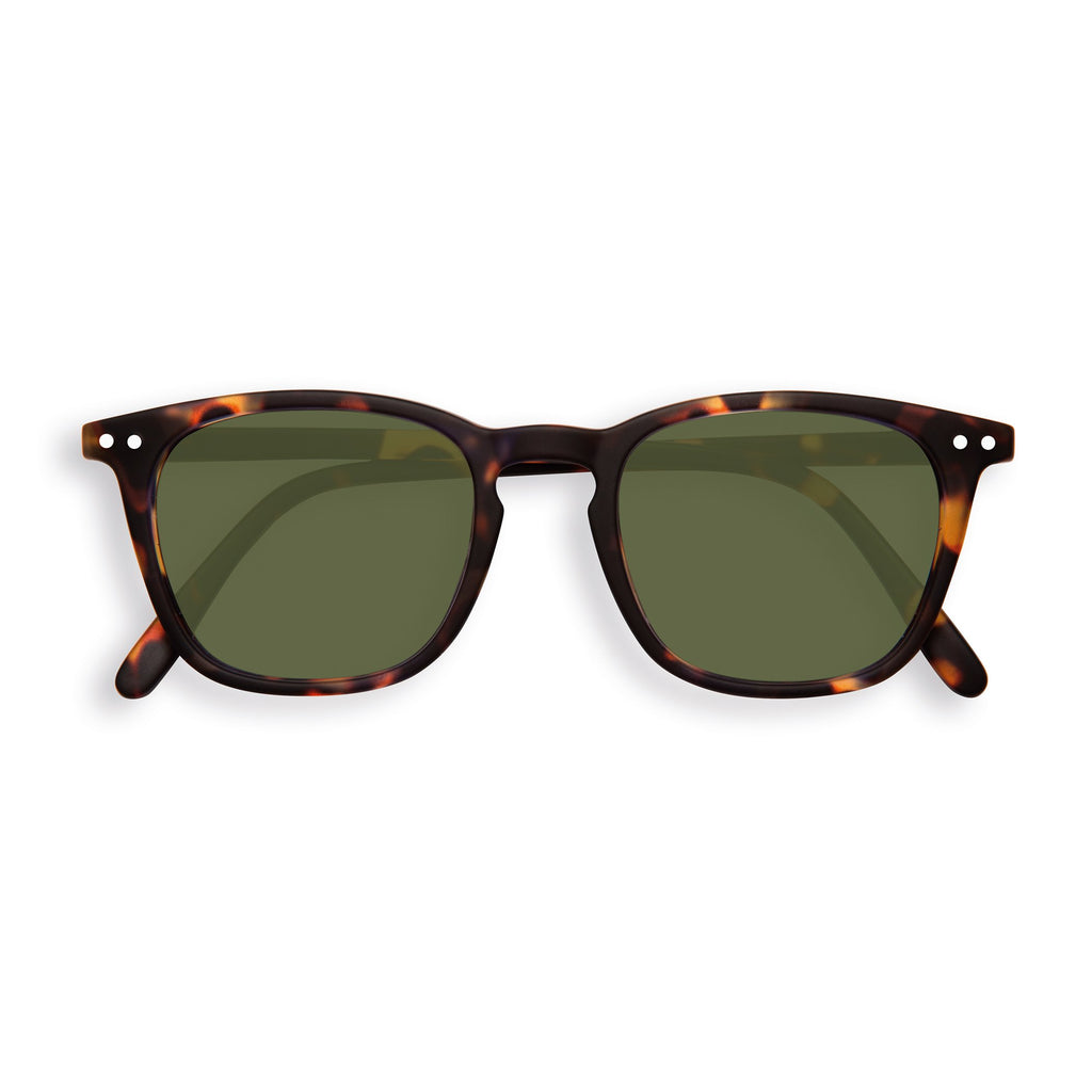 Sunglasses - E - Green Lenses - Tortoise