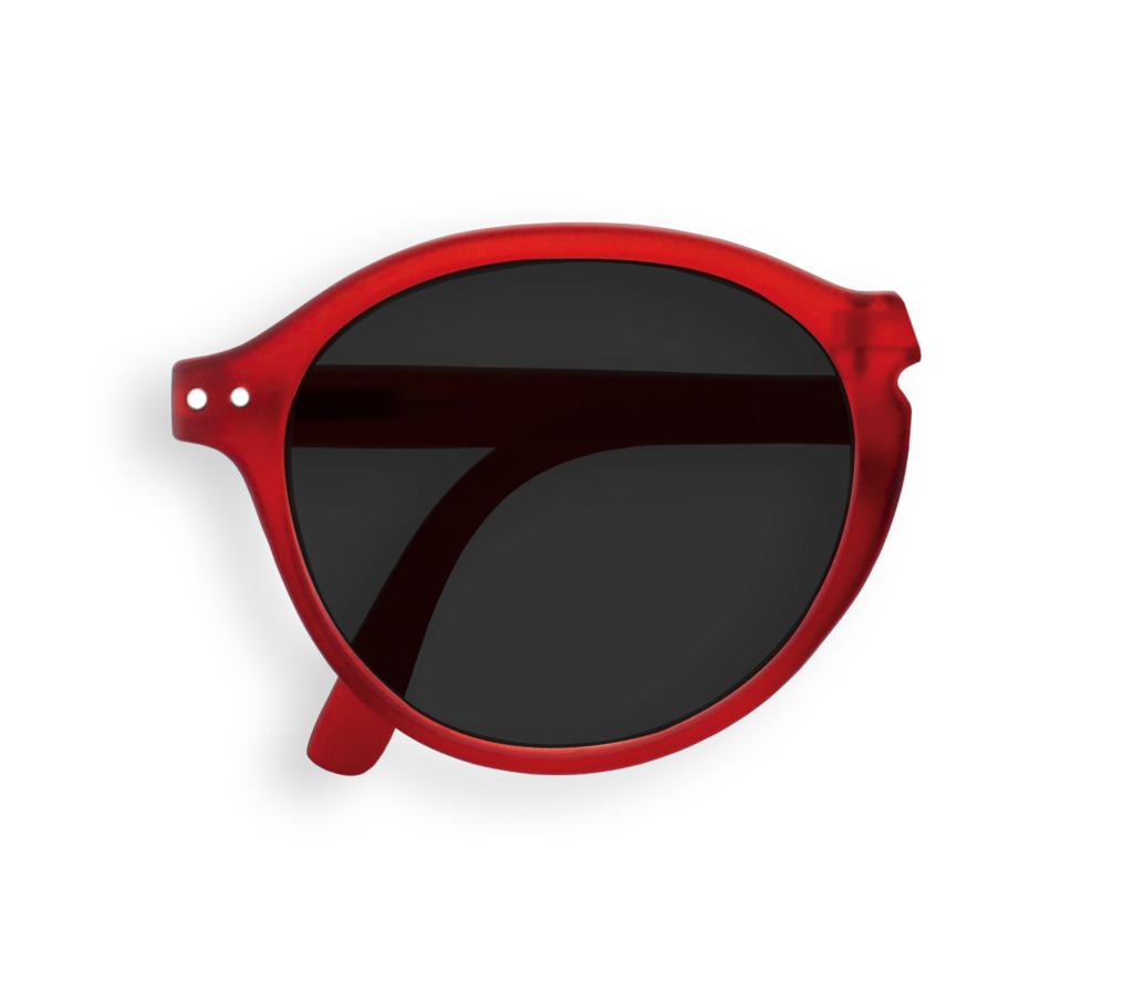 Foldable Sunglasses - F - Red Crystal