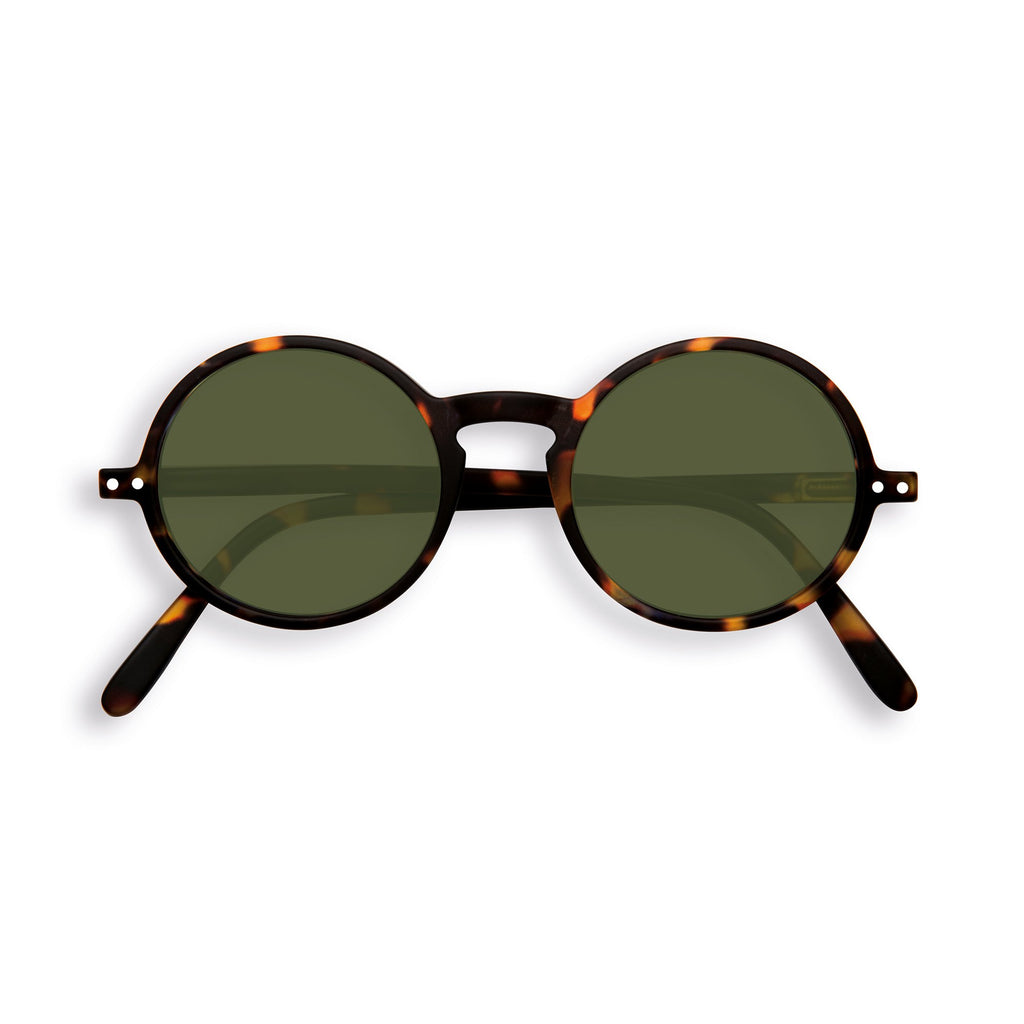 Sunglasses - G - Green Lenses - Tortoise