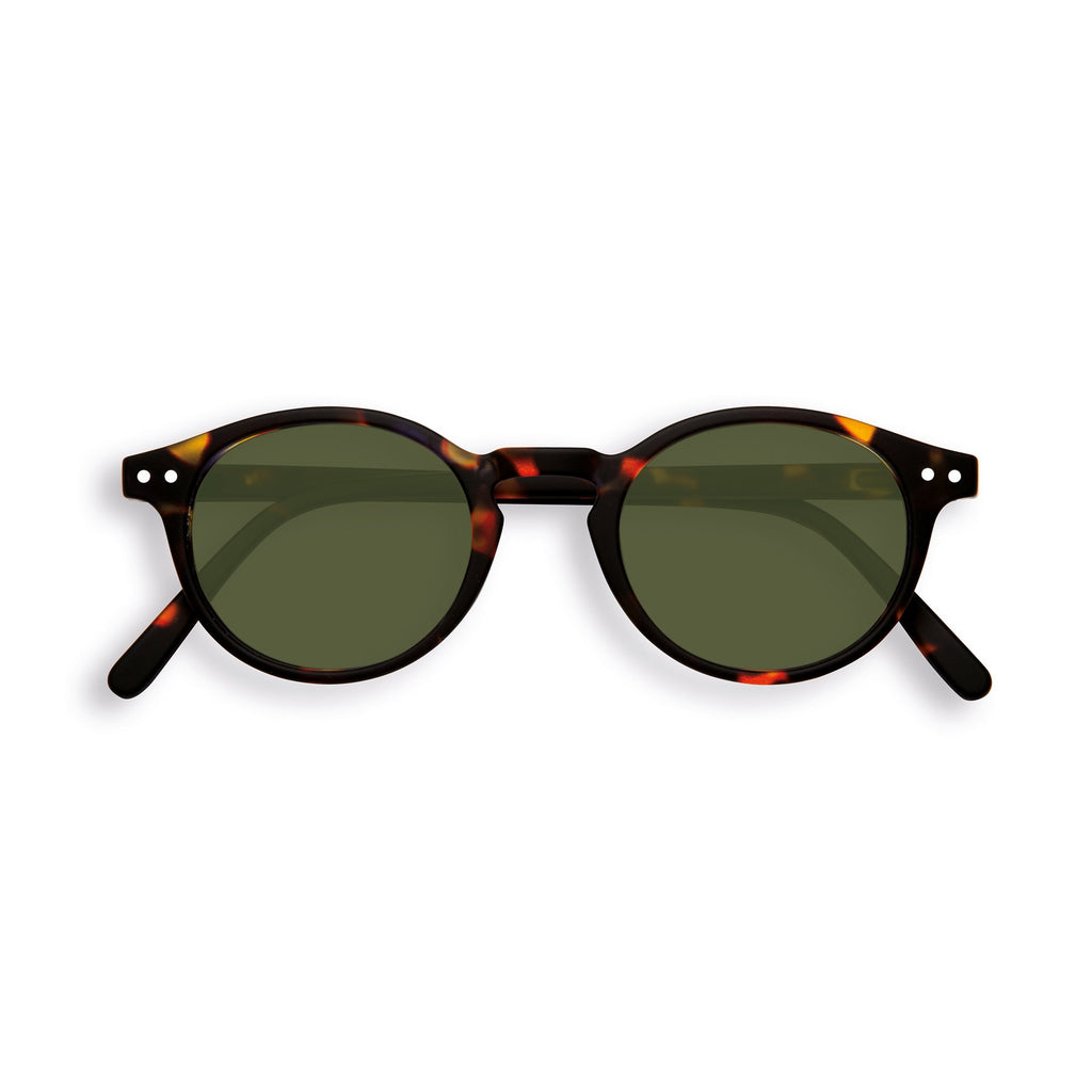 Sunglasses - H - Green Lenses - Tortoise